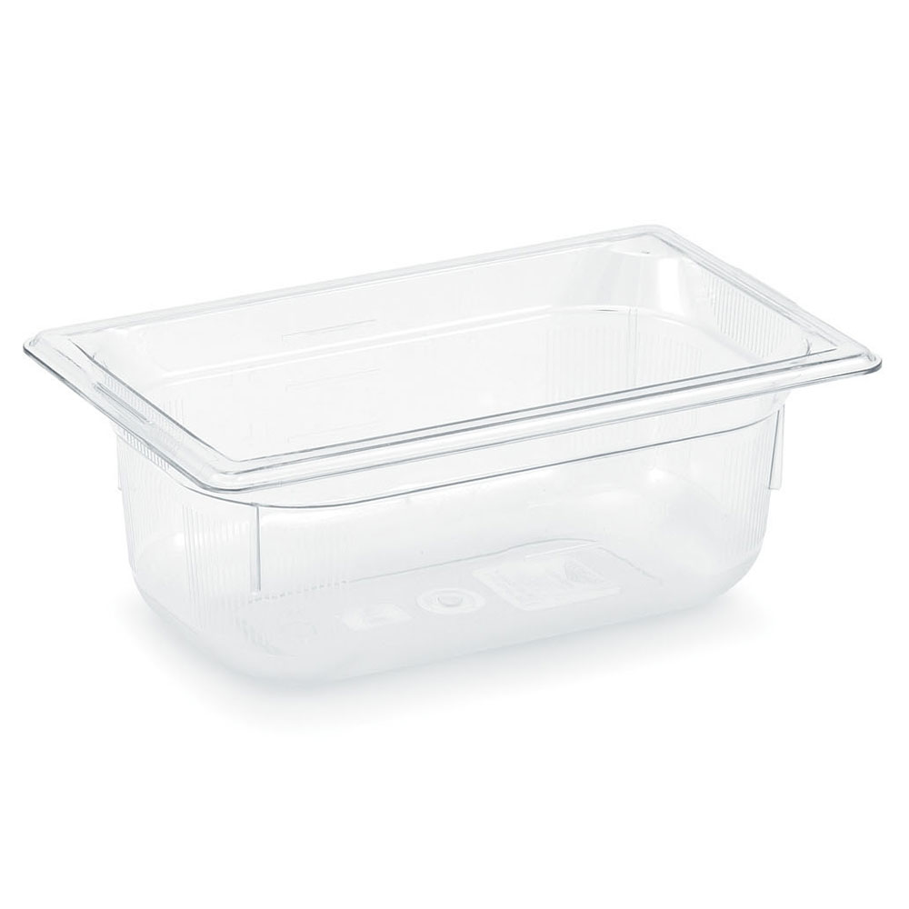 "Vollrath 8004410 Full-Size Food Pan - 4"" Deep, Low-Temp, Clear Poly"