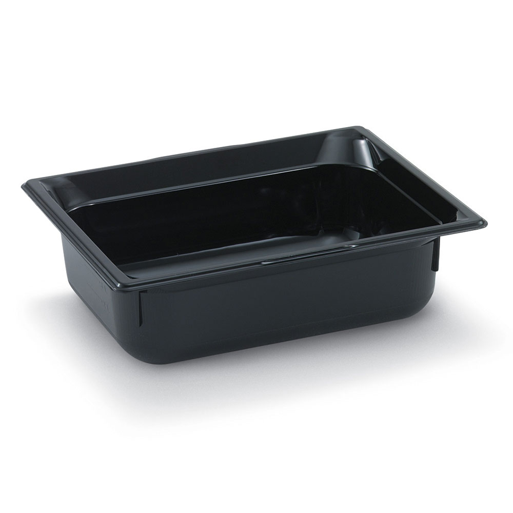 "Vollrath 8006420 Full-Size Food Pan - 6"" Deep, Low-Temp, Black Poly"
