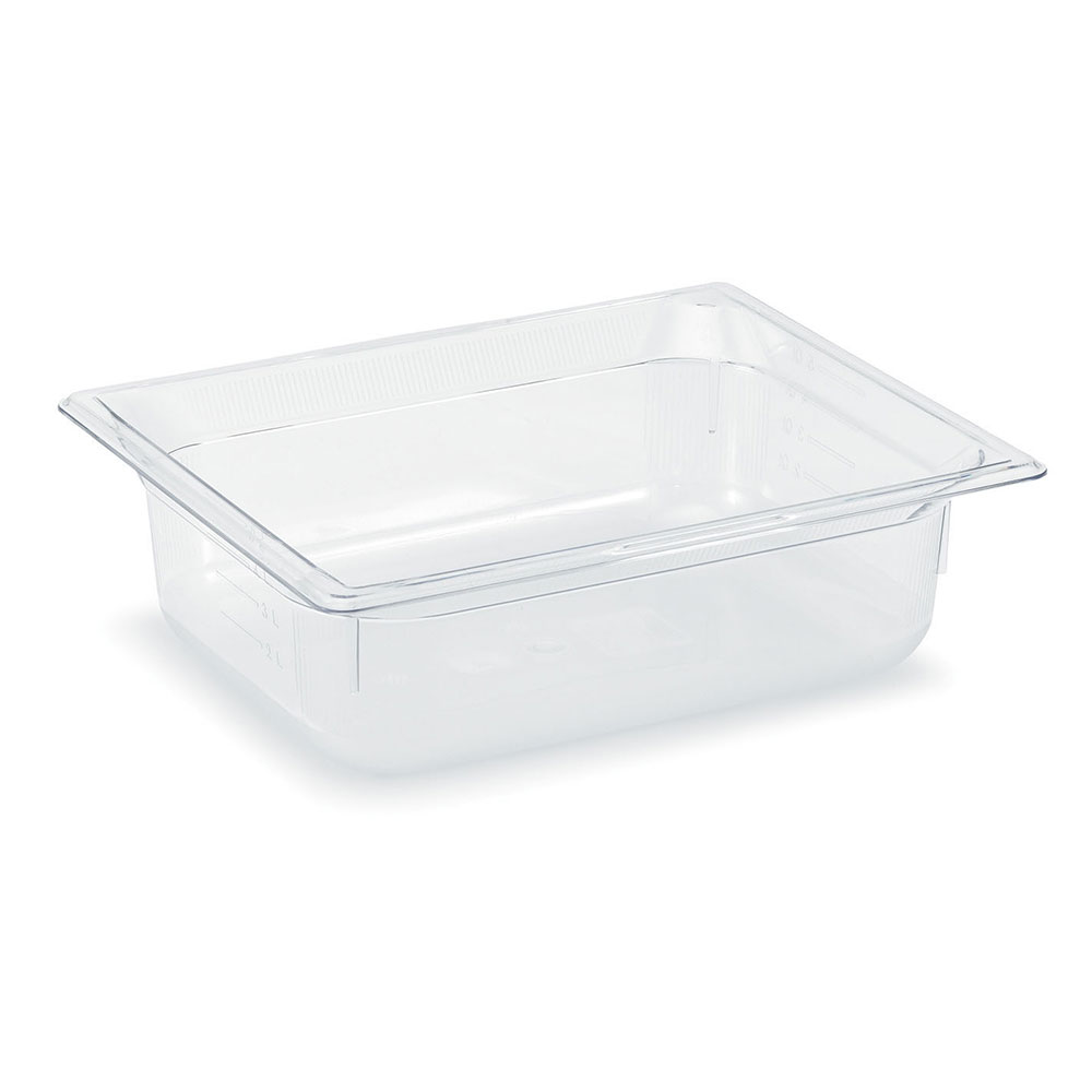 "Vollrath 8022410 Half-Size Food Pan - 2-1/2"" Deep, Low-Temp, Clear Poly"