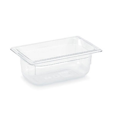 """Vollrath 8044410 1/4 Size Food Pan - 4"""" Deep, Low-Temp, Clear Poly"""