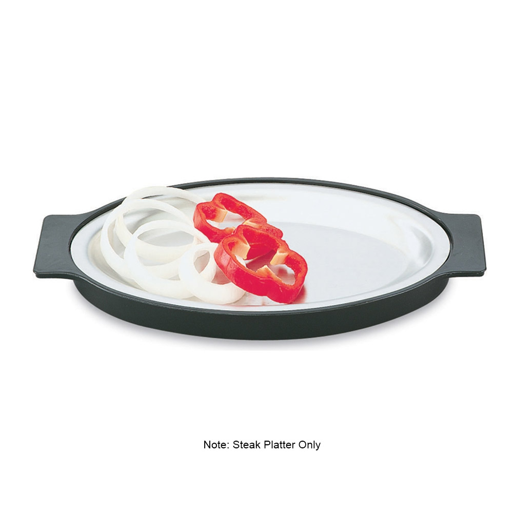 "Vollrath 81180 Replacement Oval Steak Platter - 7-3/4x11-3/4"" Stainless"