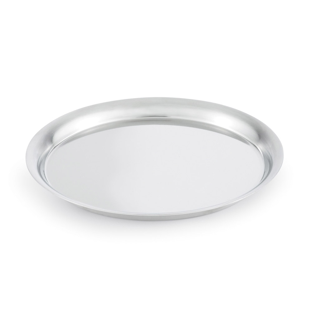 "Vollrath 82008 11-3/16"" Round Tray Cover - 18-ga Stainless"