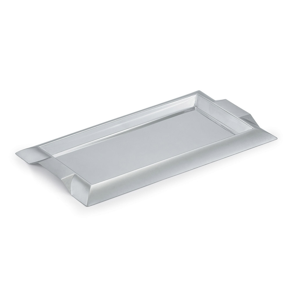"Vollrath 82094 Rectangular Serving Tray with Handles - 10x18"" Stainless"