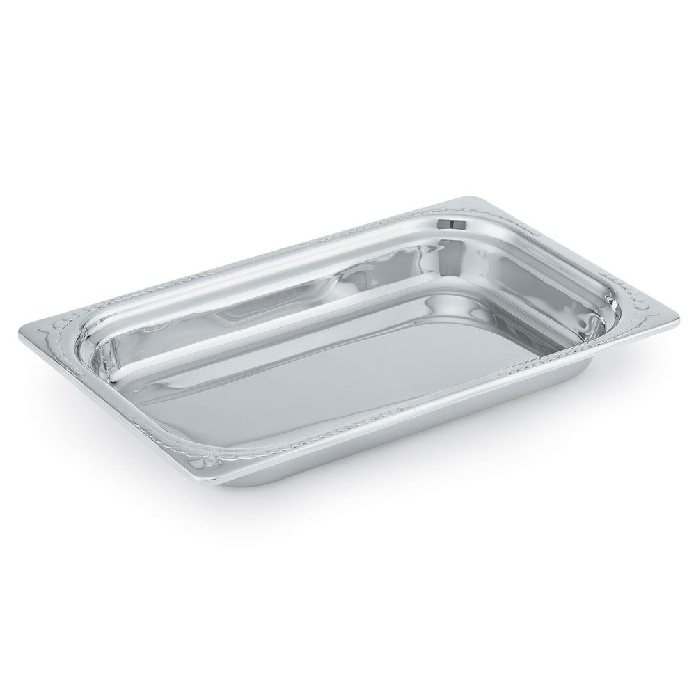 Vollrath 8230410 6.3-qt Decorative Full-Size Rectangular Pan - Stainless