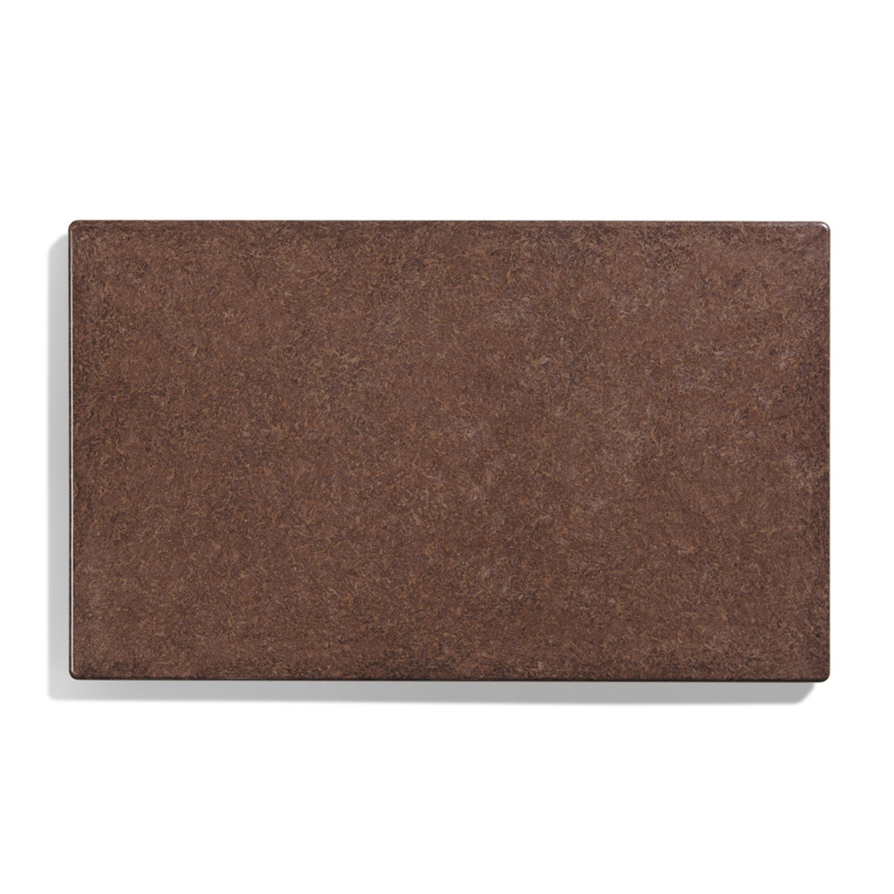 "Vollrath 8240022 Blank Miramar Solid Template - 12x20"" Brown Granite"