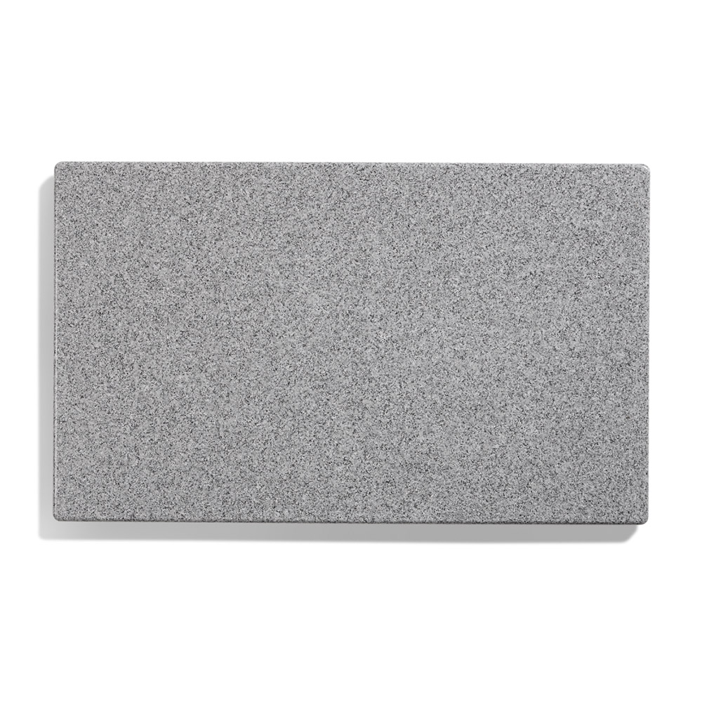 "Vollrath 8240024 Blank Miramar Solid Template - 12x20"" Gray Granite"