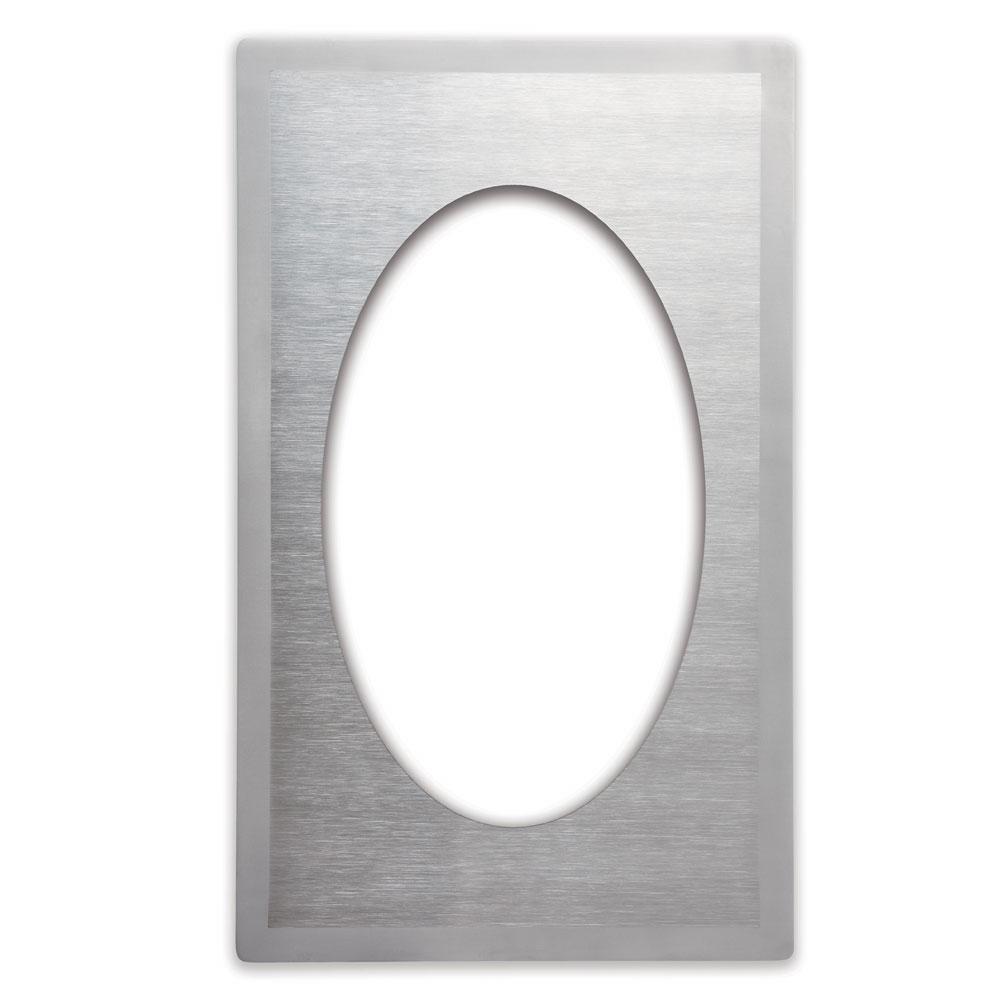 "Vollrath 8240116 Miramar Template - (1) Large Oval Decorative Pan, 12x20"" Satin-Finish Stainless"