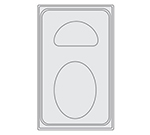 Vollrath 8240212 Miramar Template, Fits 12 x 20 Hot/Cold Wells, Heat Resistant, Oyster