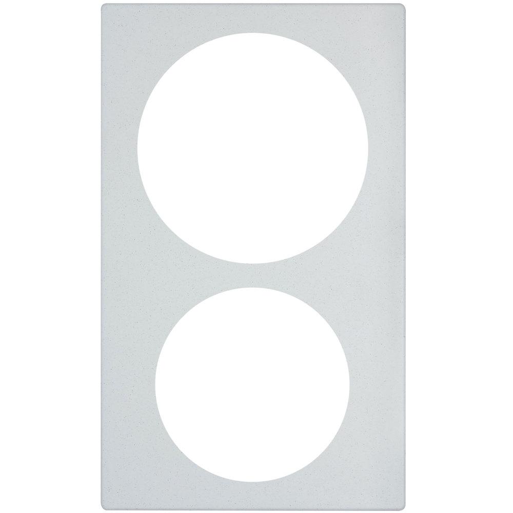 "Vollrath 8242020 Miramar Template - For (1) 5-qt & (1) 3-qt Casserole, 21.13"" x 12.75"", White Stone"