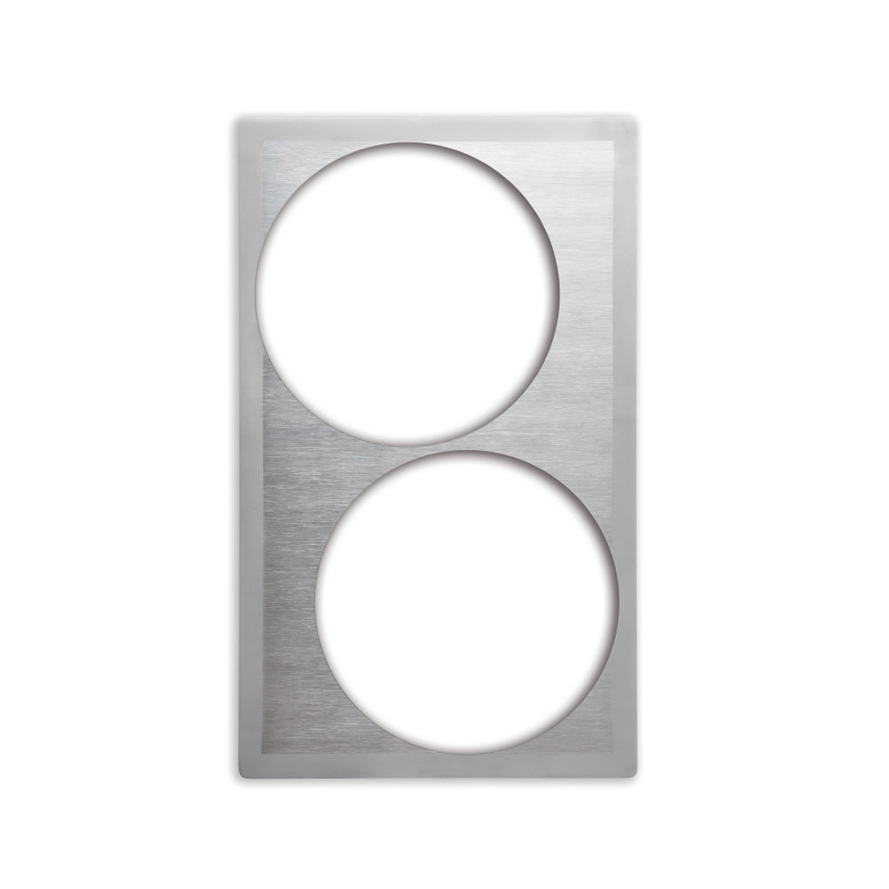 Vollrath 8242516 Miramar Single-Size Template - (2)5-qt Casserole, Satin-Edge Stainless
