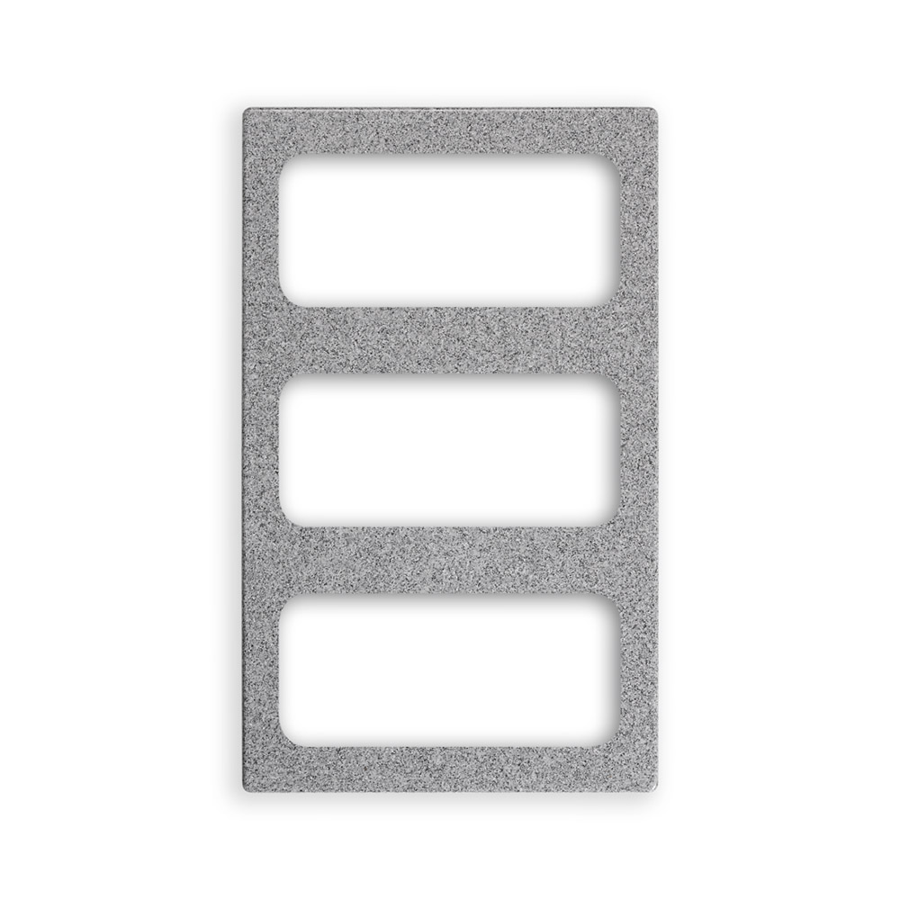 "Vollrath 8244224 Miramar (3)1/3-Size Pan Template - 12x20"" Gray Granite"