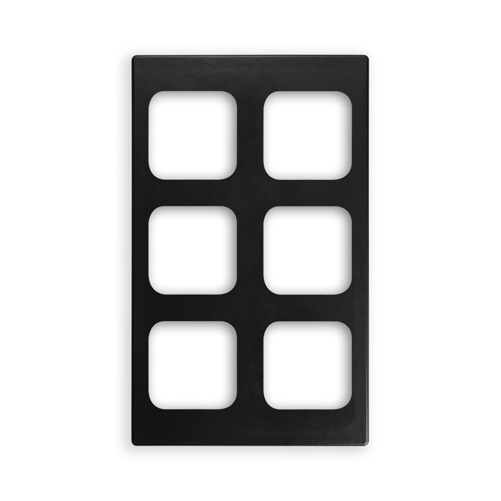 "Vollrath 8244318 Miramar (6)1/6-Size Pan Template - 12x20"" Black"