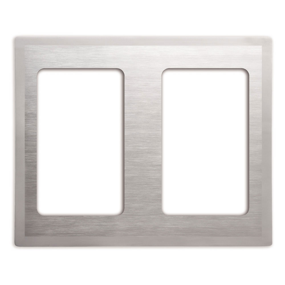 Vollrath 8250216 Miramar Double-Well Template - (2)Rectangular 3/4 Pans, Satin-Edge Stainless