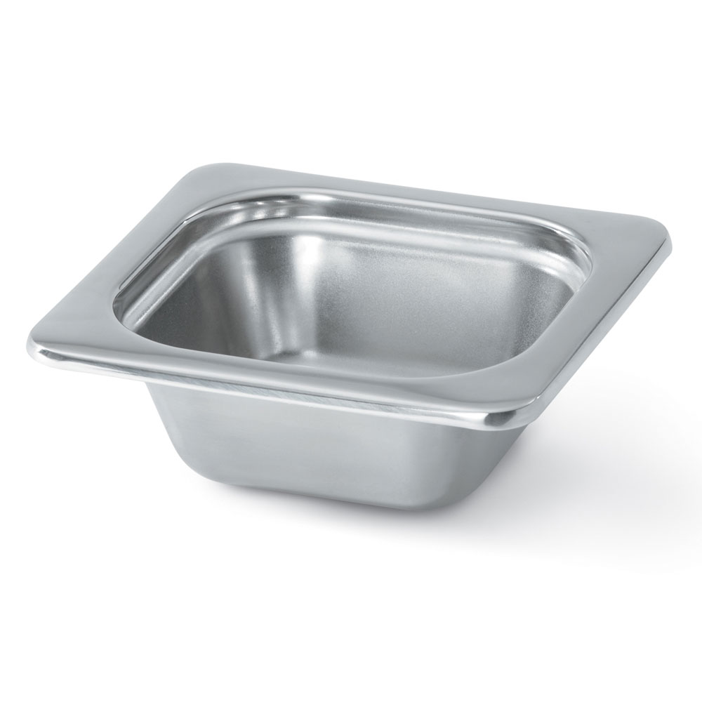 "Vollrath 8262205 Miramar 1/6 Size Foodpan - 2-1/2"" Deep, Mirror-Finish Stainless"