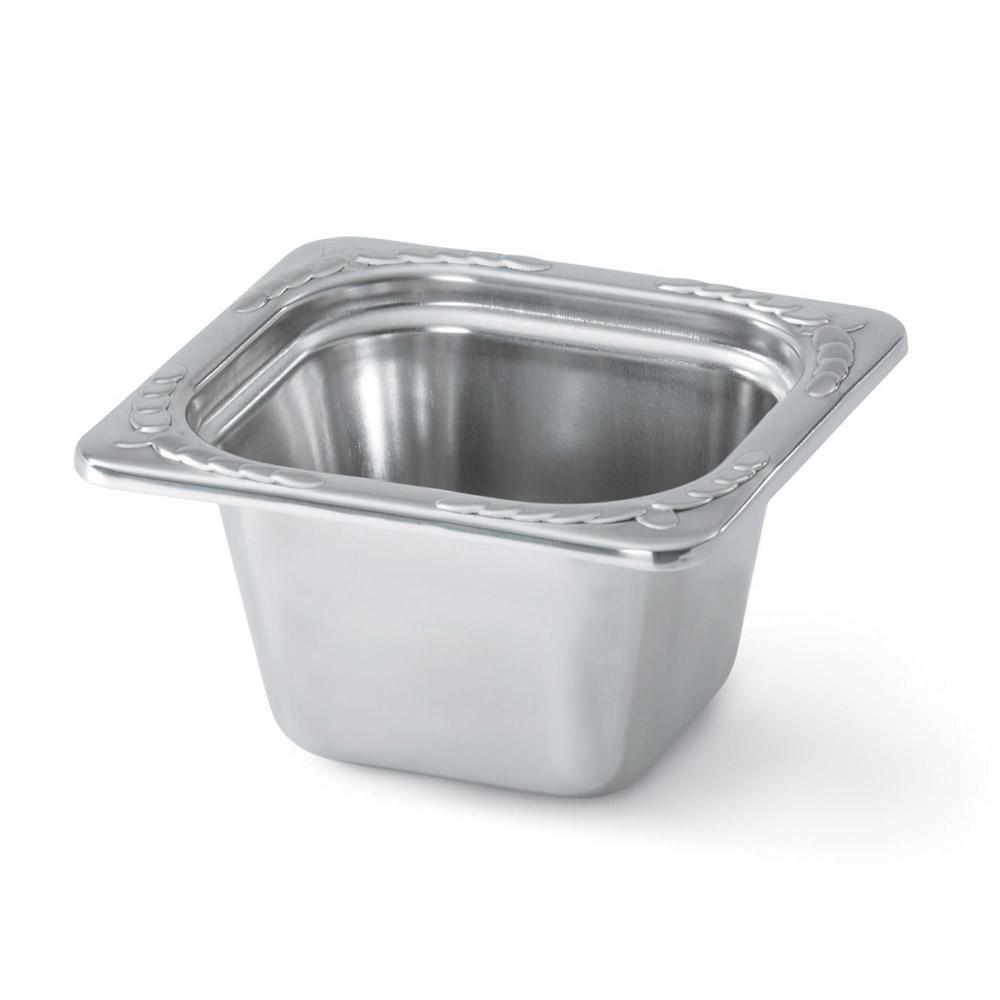 "Vollrath 8264220 Miramar 1/6 Size Decorative Foodpan - 4"" Deep, Mirror-Finish Stainless"