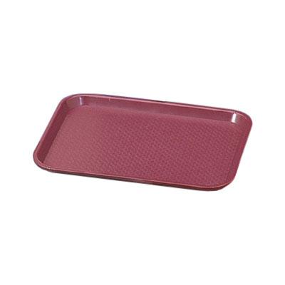 """Vollrath 86103 Fast Food Tray - 10x14"""" Burgundy Poly"""