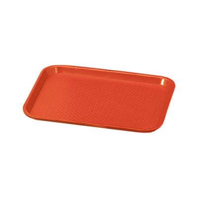 "Vollrath 86104 Fast Food Tray - 10x14"" Orange Poly"