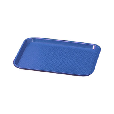 "Vollrath 86107 Fast Food Tray - 10x14"" Royal Blue Poly"