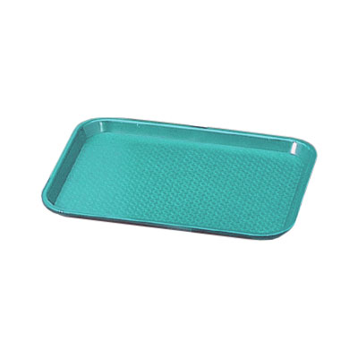 "Vollrath 86109 Fast Food Tray - 10x14"" Teal Poly"