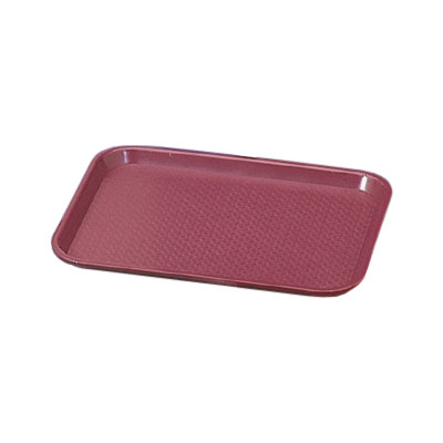 "Vollrath 86113 Fast Food Tray - 12x16"" Burgundy Poly"