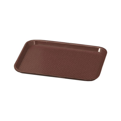 """Vollrath 86121 Fast Food Tray - 14x18"""" Brown Poly"""