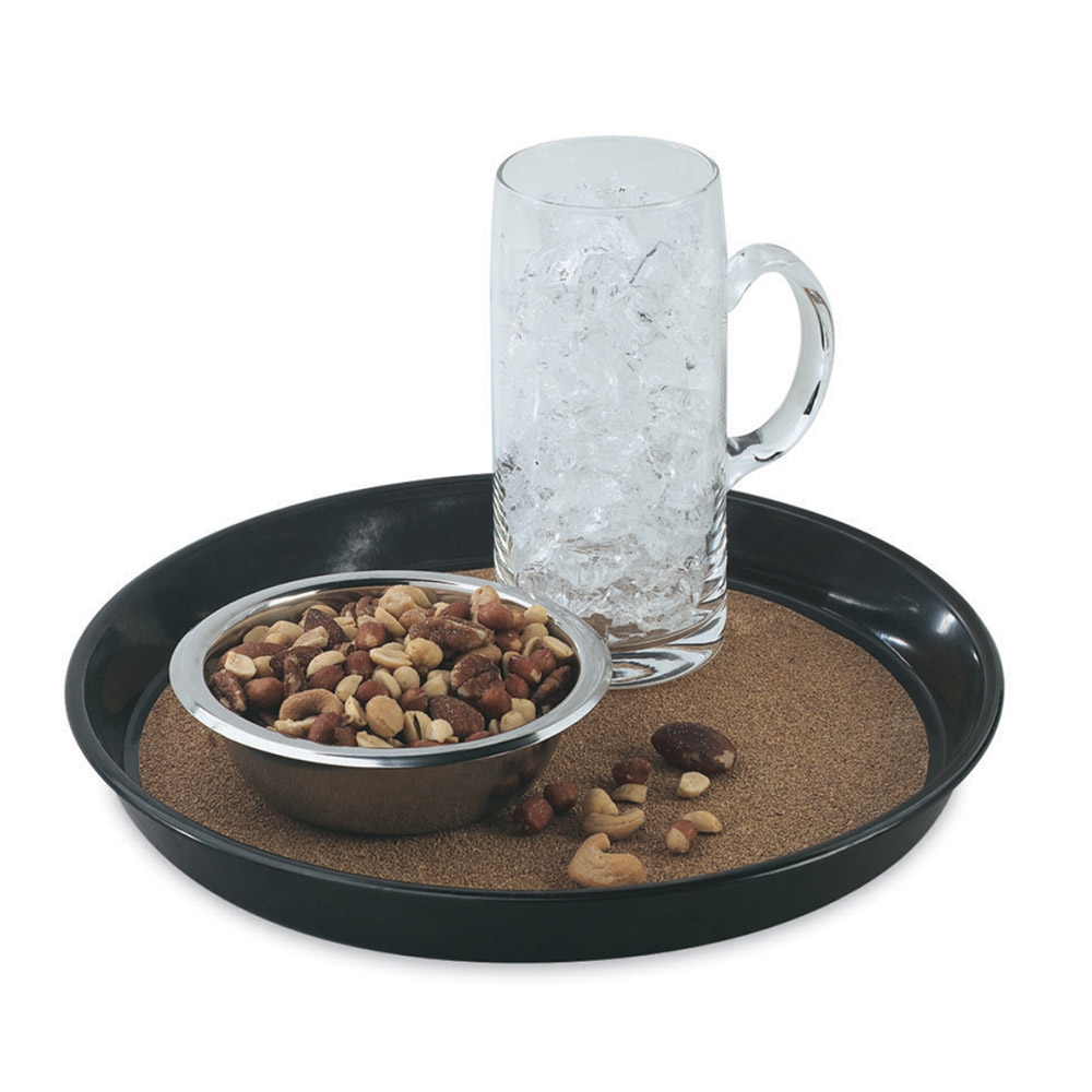 """Vollrath 86338 12-1/2"""" Round Cork-Lined Beer Tray - Brown"""