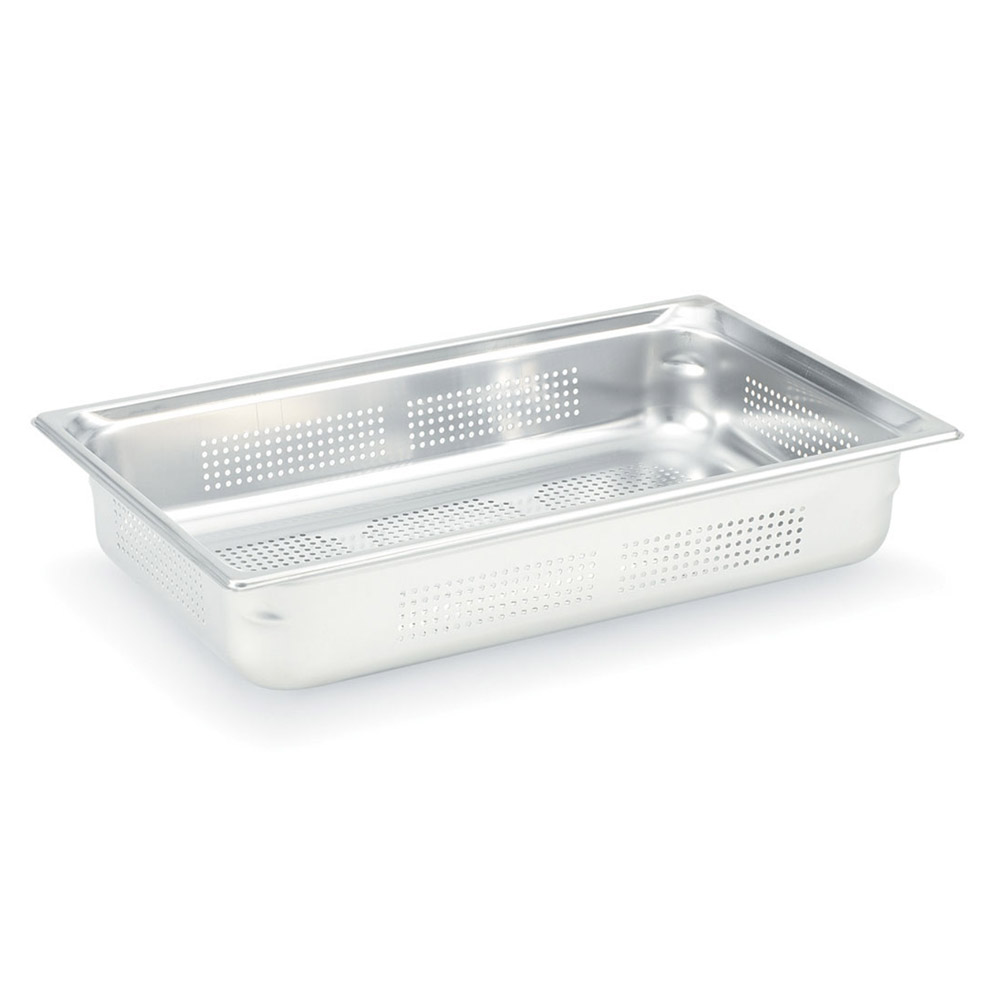 Vollrath 90013 Super Pan 3 Full-Size Perforated Steam Pan, Stainless