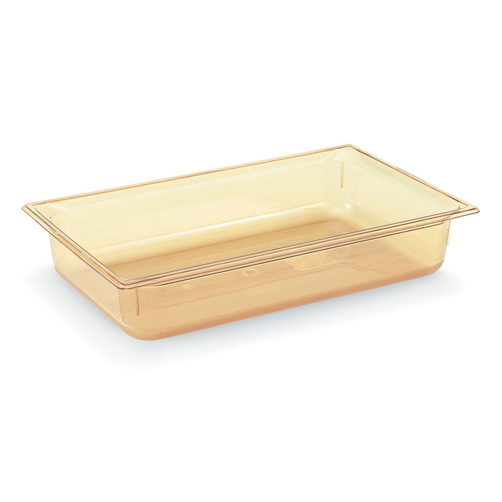 "Vollrath 9006410 Full-Size Hot Food Pan - 6"" Deep, Amber"