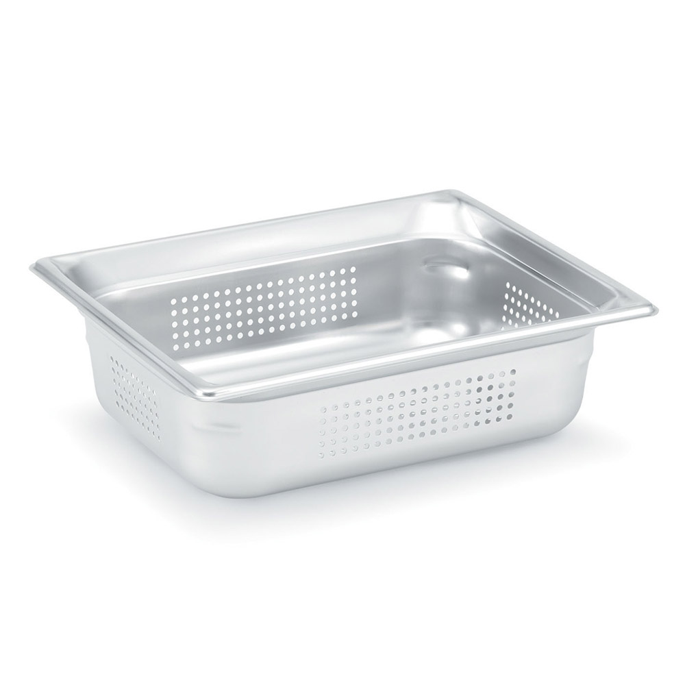 Vollrath 90243 Super Pan 3 Half-Size Steam Pan Perforated, Stainless
