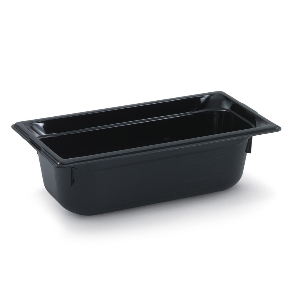 "Vollrath 9034420 1/3 Size Hot Food Pan - 4"" Deep, Black"
