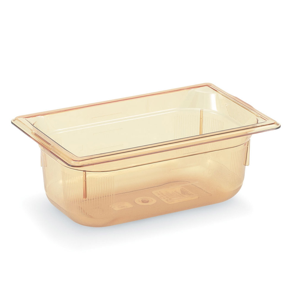"Vollrath 9046410 1/4 Size Hot Food Pan - 6"" Deep, Amber"