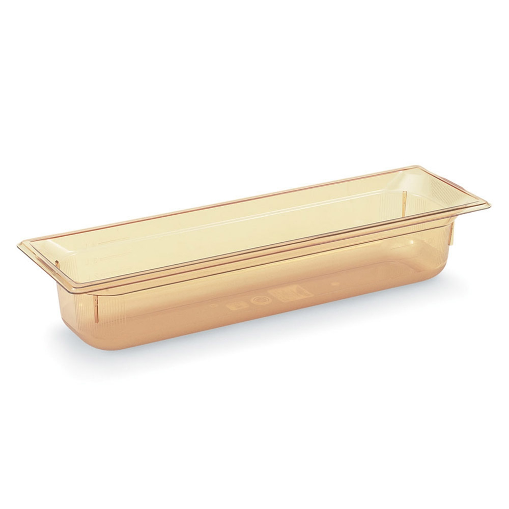 "Vollrath 9052410 Half-Size Long Hot Food Pan - 2-1/2"" Deep, Amber"