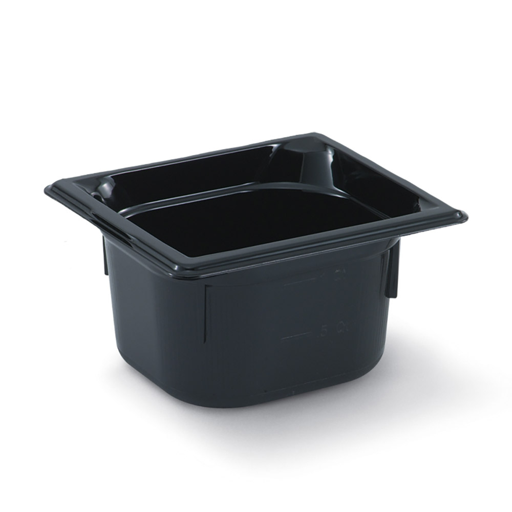 "Vollrath 9066420 1/6 Size Hot Food Pan - 6"" Deep, Black"