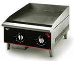 "Vollrath 924GGM 24"" Gas Griddle - Manual, 1""  Plate, NG"