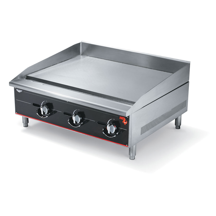 "Vollrath 936GGM 36"" Gas Griddle - Manual, 1"" Steel Plate, LP"
