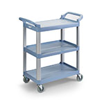 "Vollrath 97005 Multi-Purpose Cart - 40-1/4x19-7/8x37"" 300-lb Capacity, Plastic/Aluminum, Gray"