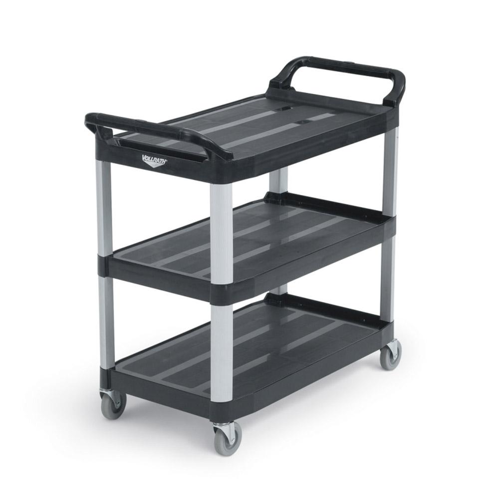 """Vollrath 97006 Multi-Purpose Cart - 33x16-13/16x37"""" 300-lb Capacity, Plastic/Aluminum, Black"""