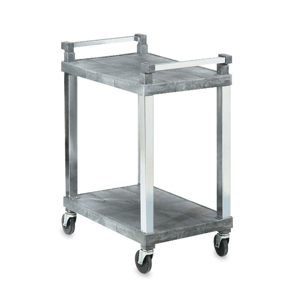 "Vollrath 97101 2-Shelf Utility Cart - 300-lb Capacity, 30-1/2x18-1/2x36"" Gray Plastic"