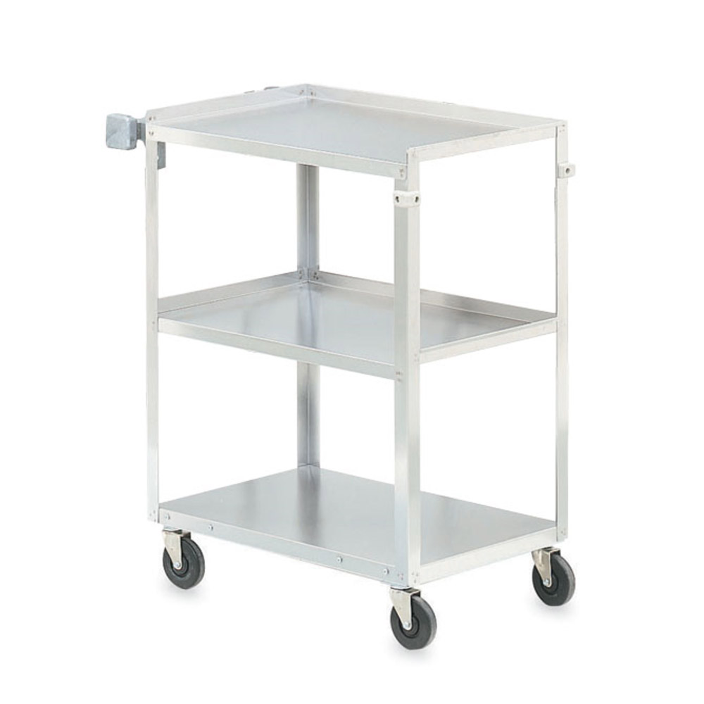 "Vollrath 97121 3-Shelf Utility Cart - 300-lb Capacity, 30-7/8x17-3/4x33-3/4"" Stainless"