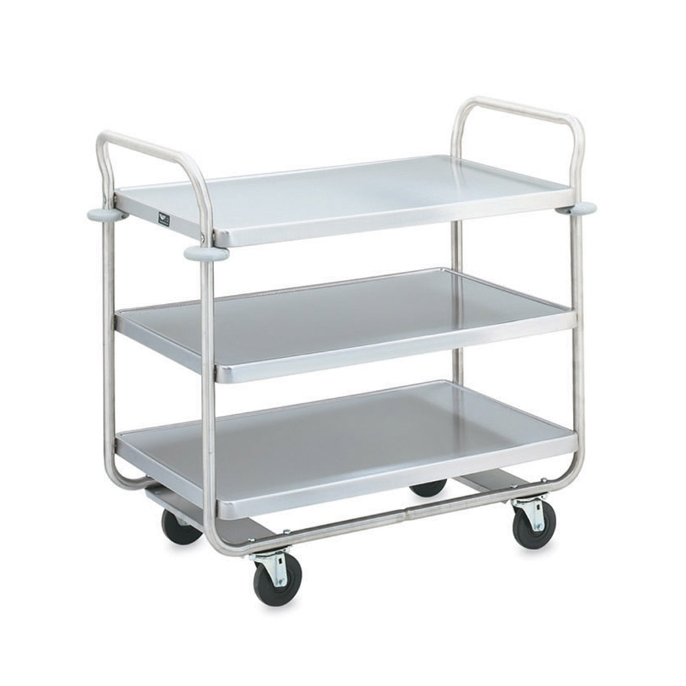 "Vollrath 97168 3-Shelf Utility Cart - 500-lb Capacity, 37-1/2x21x35-1/2"" Stainless"