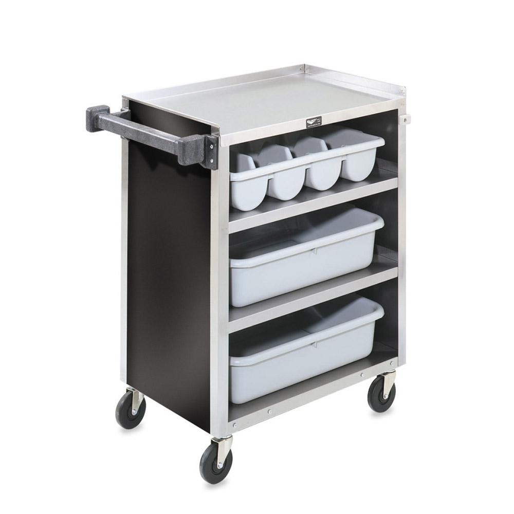 "Vollrath 97180 4-Shelf Paneled Bussing Cart - 300-lb Capacity, 27-1/2x15-1/2x33-5/8"" Black"