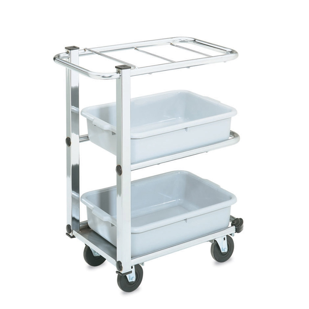 Vollrath 97186 Utility Cart Single Cantilever Holds 3 Standard Tote Boxes Restaurant Supply