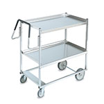 Vollrath 97200 2-Shelf Utility Cart - 650-lb Capacity, Raised Lower Shelf, Stainless