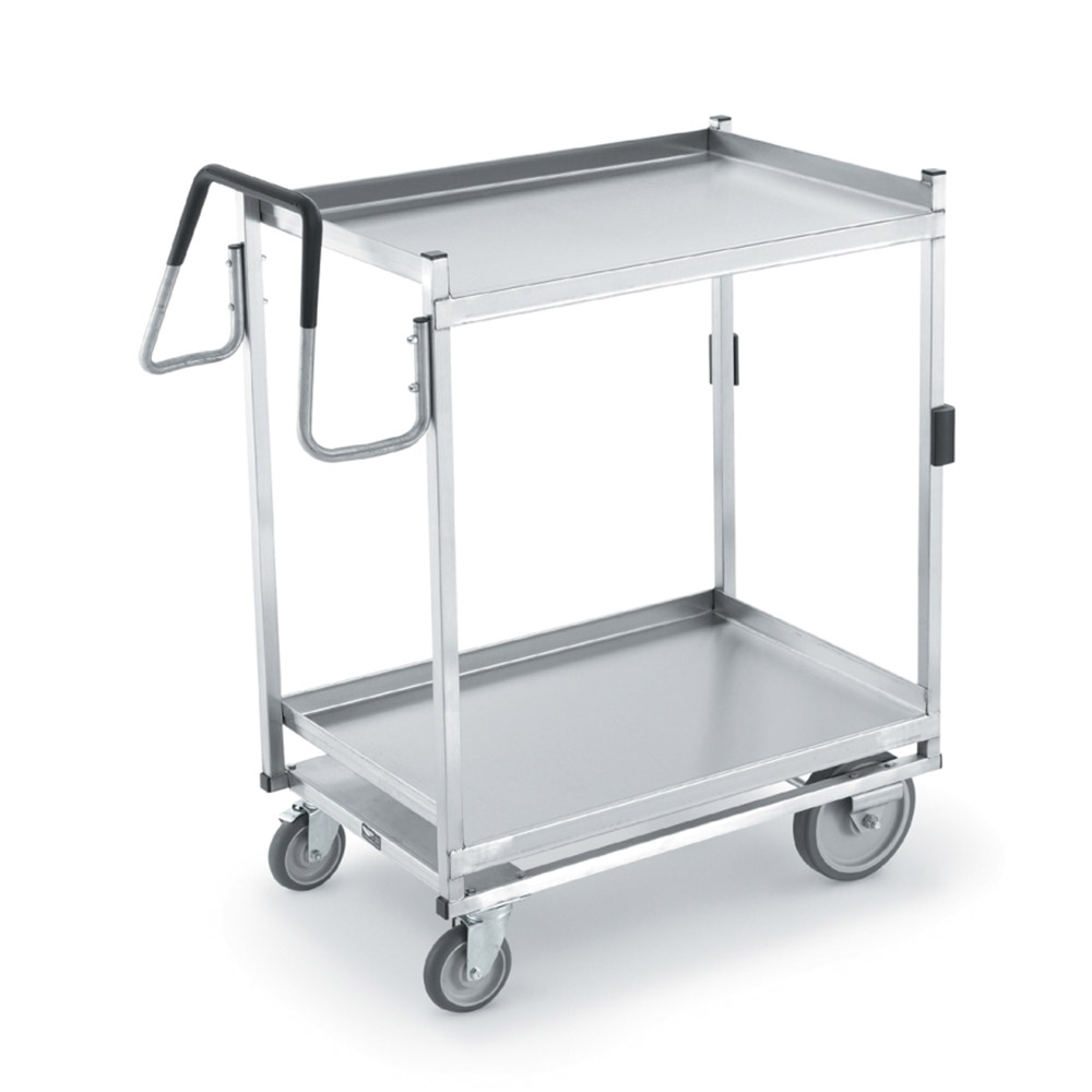 Vollrath 97205 2-Level Stainless Utility Cart w/ 650-lb Capacity, Raised Ledges
