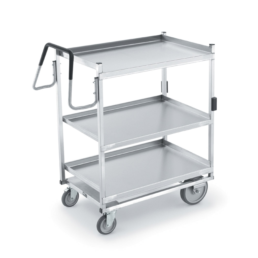 Vollrath 97208 3-Level Stainless Utility Cart w/ 900-lb Capacity, Raised Ledges