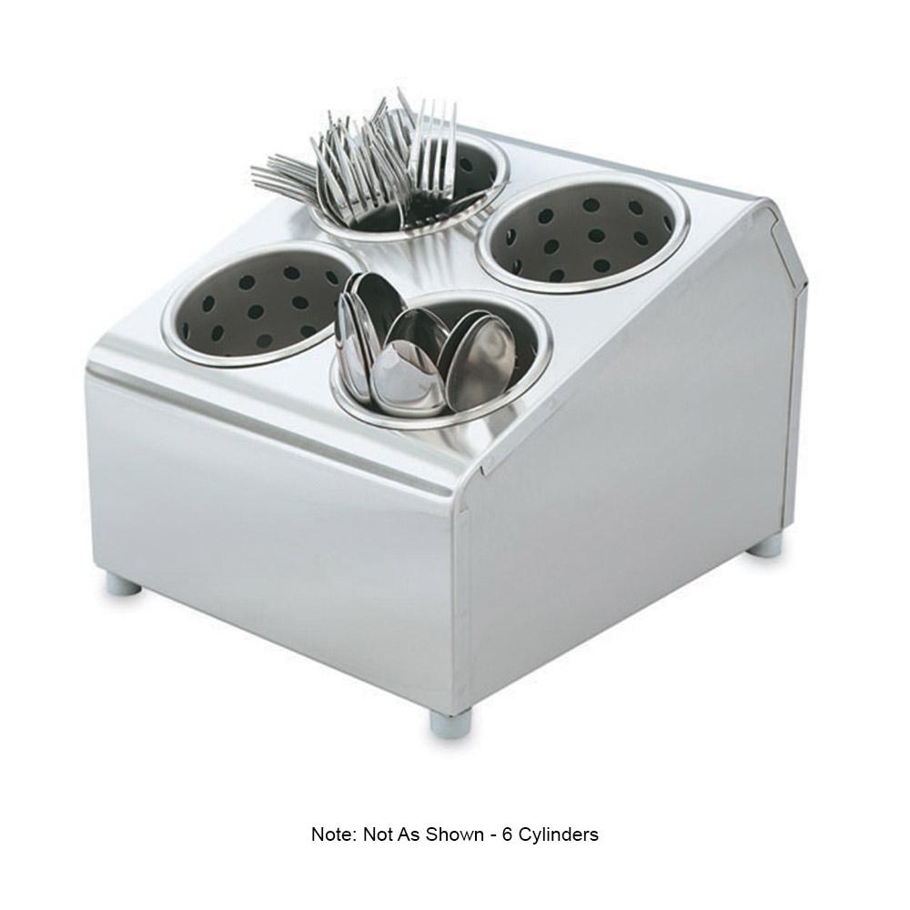 """Vollrath 97241 Cutlery Dispenser - 6 Cylinder, 14-7/8x11-1/2x8-1/2"""" Stainless"""