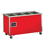 Vollrath 98888 6-Well Hot Food Station - Enclosed Base, Manifold Drain, Stainless Top
