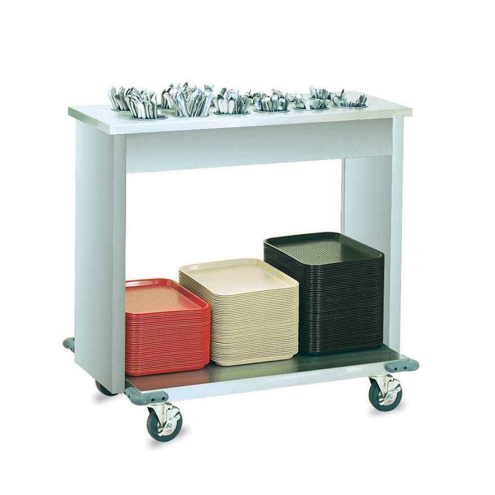 "Vollrath 99305 Tray and Flatware Cart - (12)Containers, 22-1/2x38x34"" Stainless"