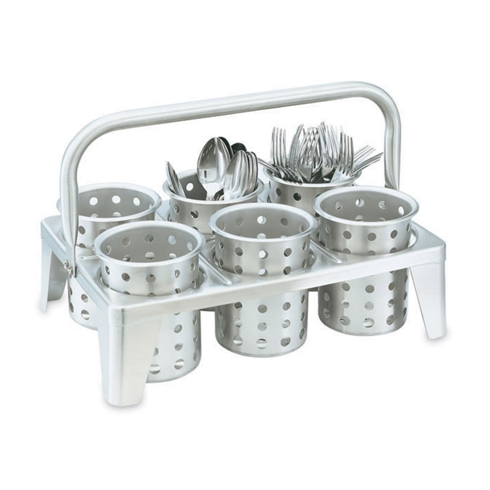 Vollrath 99720 Flatware (6) Cylinder Transport Rack - Stainless