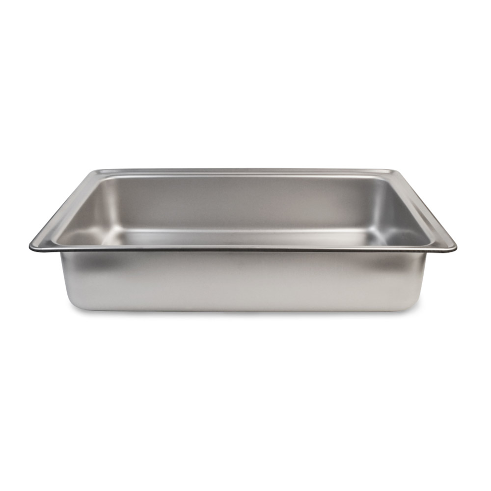 Vollrath 99745 Full-Size Dripless Water Pan - Straight-Sided, Stainless